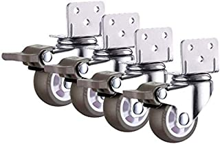 Remwielen, Silent Trolley Caster Meubels Swivel Castors, Φ25/32/38/50mm (1/1.3/1.5/2 Inches) Rubber Vervanging Casters Win...