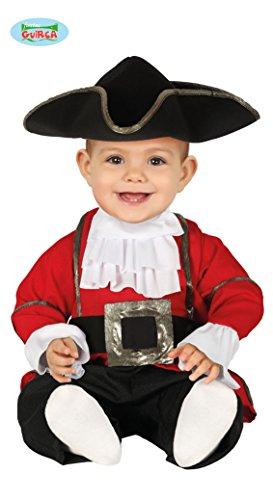 Guirca 88391 Piratenkostüm für Neugeborene 6/12 Monate, Farbe schwarz, rot und weiß