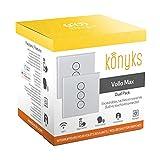 Konyks Vollo Max -DUAL PACK - lot de 2 Interrupteurs encastrables pour volets roulants Wi-Fi, compatibles avec Alexa et Google Home, automatisations faciles, rétro-éclairage est contrôlable