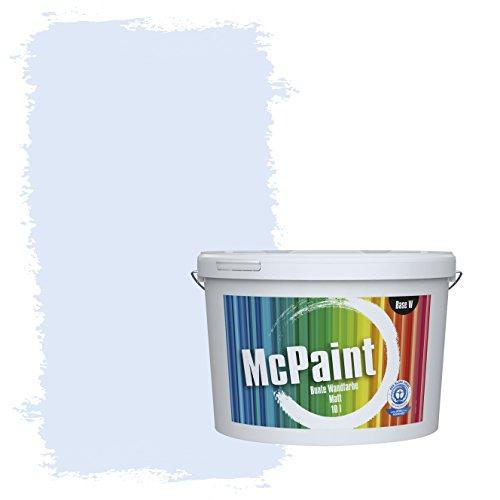 McPaint Bunte Wandfarbe matt für Innen Babyblau 2,5 Liter - Weitere Blaue Farbtöne Erhältlich - Weitere Größen Verfügbar