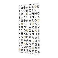 FFANY Xperia XZ2 (SO-03K・SOV37・702SO) 対応 スマホケース ハードケース 古代文字風・ホワイト サイン記号 エンシェント SONY ソニー エクスペリア エックスゼットツー docomo au SoftBank スマホカバー 携帯ケース 携帯カバー ancient_aam_h210111