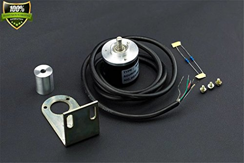 Incremental Photoelectric Rotary Encoder - 400P/R Industrial-Grade Incremental Photoelectric Rotary Encoder Compatible With Arduino, Plc Master All Aluminum Platform Metal Shell Stainless Steel Shaft