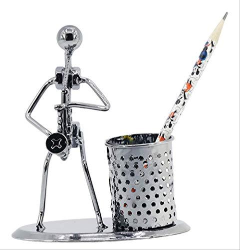 Pennenhouder, creatieve studentengeschenkhouder, saxofoon model pennenhouder