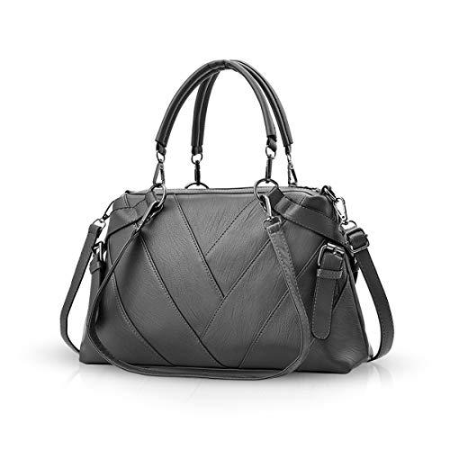 NICOLE & DORIS Handtaschen für Damen Top-Griff Taschen für Frauen große Umhängetasche Grau