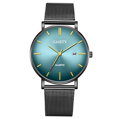 Quartz Uhren für Herren, Skxinn Herrenuhren,Männer Business Fashion Modisch Analoge Armbanduhren mit Edelstahl Mesh-Gürtelband, Ausverkauf(I)
