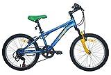 Umit Bicicleta 20 XR-200 Azul con Cambio Shimano 6V. Y Suspension Delantera