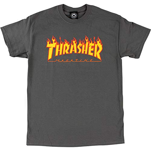 Thrasher Magazine Flame Grey Small T-Shirt