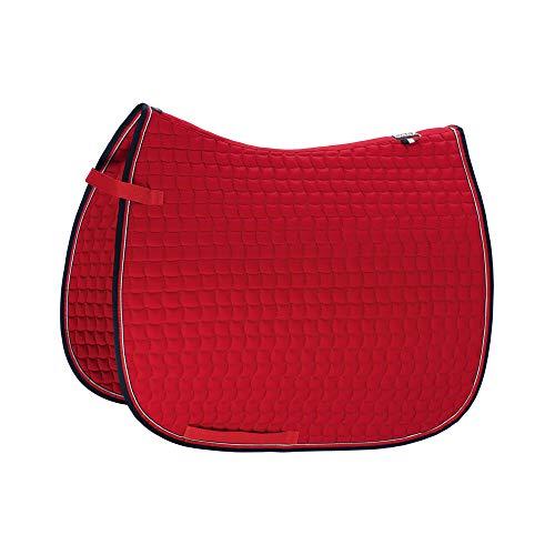 Eskadron Basic Cotton Schabracke in Chilli red, Größe:Dressur (DL), Farbe:Chilli red