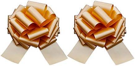 XINTUON 2 Stks Kerst Pull Bogen Voor Hampers Bogen Trek Boog Mand Trek Boom Van Craft Pack Boog Goud 315x10cm