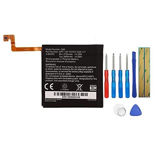 Swark Batería compatible con Caterpillar CAT S60 APP-12F-F5757I-CGX-111 con herramientas.