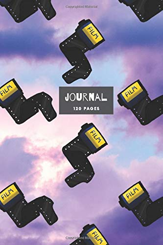 Camera Film Journal: 120 ruled white pages with a line for the date - Camera Film Design