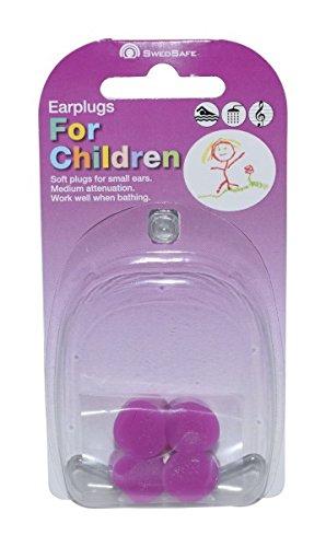 Swedsafe Kinder Ohrstöpsel Schwimmen 25dB - Gehörschutz Ohrenstöpsel aus Silikon 4 Stück Pink