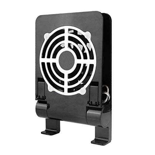 LLZJ Portable Notebook Laptop Cooler USB Cooling Pad Stand Holder Bracket Dock Fan Radiator 2 in 1 Cooler Pad for Tablet Laptop (Color : Black)