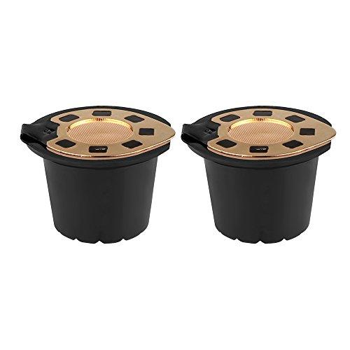 TiooDre Ricaricabile Filtro Riutilizzabile caffè Capsula Compatibile con Nespresso con 2pcs cucchiaino da caffè