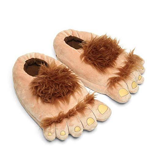 Nicetruc Monster Felpa Zapatillas Aventura de la Novedad de Invierno pies Grandes Zapatillas Creativo Bigfoot Zapatos Calientes Pies Invierno Hobbit Indoor Shoes para Adultos de los niños