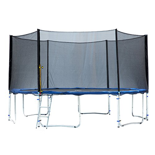 Exacme TUV Approved Heavy Duty Trampoline with Enclousre Net, Spring Cover, Ladder, Include All Accessories, 16 Foot
