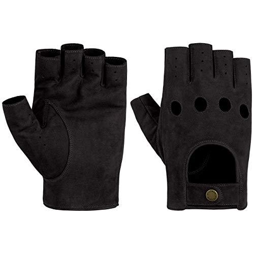 Stetson Racing Lederhandschuhe Ziegenlederhandschuhe Fingerlose Handschuhe Herren - Frühling-Sommer - 9 1/2 HS schwarz
