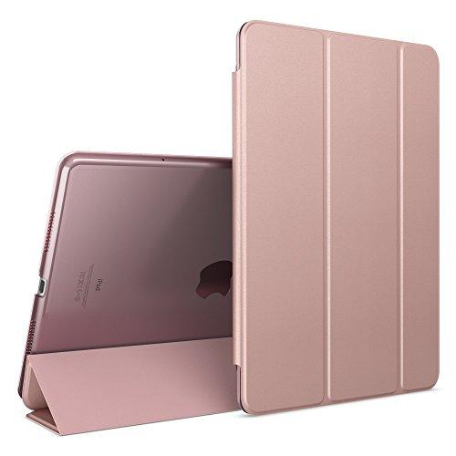NALIA Cover Custodia per Apple iPad Pro 2016 9,7', Slim Smart-Case Protettiva con Stand-Fold Eco-Pelle Vegan per Fronte & Retro, Tablet Bumper Sleeve Copertura Guscio Protezione Sottile - Rosa Oro