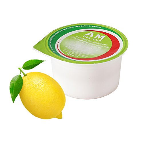 AM Gel Cup Acquagel Limone con edulcorante - Acqua Gelificata pronta all'uso 24 vasetti da 125g