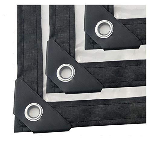 GHHZZQ Portada Impermeable Hogar Lona alquitranada con Ojales Bordes Reforzados película plástica Anti-UV al Aire Libre jardín Cubierta De Lona, El 1x2m (Color : Clear, Size : 4x1.5m)