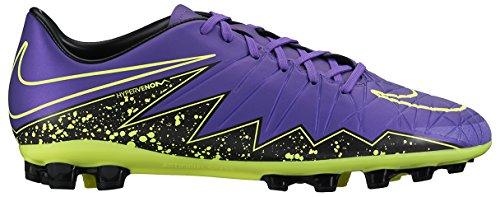 Nike Hypervenom Phelon II AG-R, Botas de fútbol para Hombre, Morado/Negro/Verde (Hyper Grape/Hypr Grape-Blk-Vlt), 45 EU