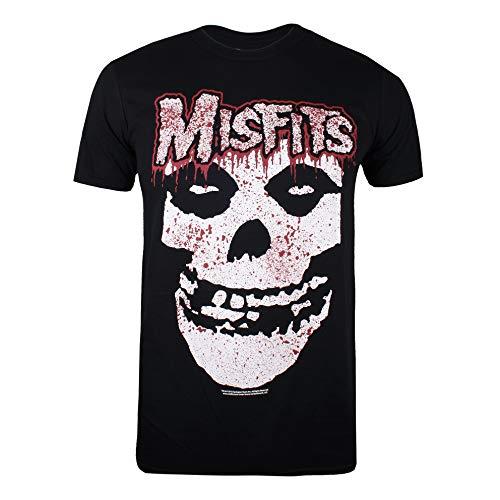 Misfits Herren Ripping Skull T-Shirt, Schwarz (Schwarz Schwarz), XL