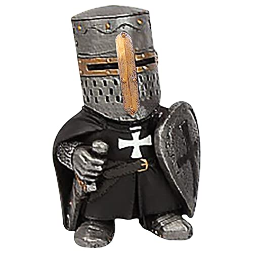 Knight Gnomes Guard,Garden Knight Ornament Resin Crafts Ornaments Renaissance Medieval Knight Of The Cross Templar Crusader Figurine