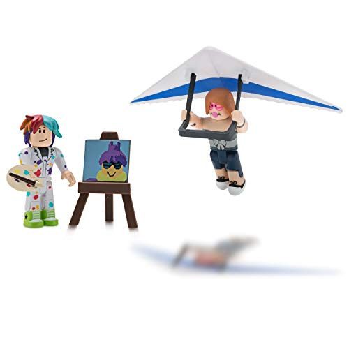 Roblox Celebrity Collection Roblox Celebrity Collection Pixel Artist Hang Glider Two Figure Bundle Includes 2 Exclusive Virtual Items