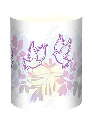 Ursus 18400084 - Mini Tischlichter Ambiente, 115 g/qm, 5 Stück, Taube lila