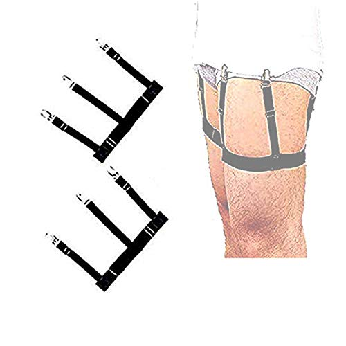 Camicia Uomo Camicia Cinghie Regolabili Reggicalze Elastiche Reggicalze con Morsetti di Bloccaggio Antiscivolo Versione Aggiornata 2 Paia