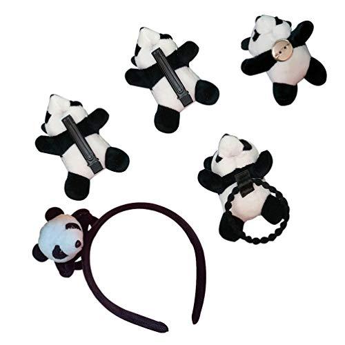 SOIMISS Panda Bär Kleid up Stirnband Haar Clip Pin Stretch Haar Krawatte Haar Zubehör für Mädchen Und Frauen