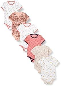 Care 4133 Bodys, Multicolor (Rosa), 6-9 Months, Pack de 6