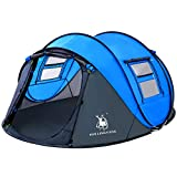 4 Person Easy Pop Up Tent-Automatic Setup Sun Shelter for Beach- Instant Family