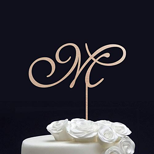 Personalized Wedding Cake Topper - Initial Cake Topper for Wedding - Monogram Cake Topper Gold - Letter Cake Topper - Custom Cake Topper