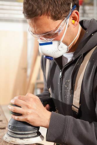 Dräger Schutzbrille X-pect 8330 | Leichte einstellbare Sicherheitsbrille | Für Baustelle, Werkstatt, Fahrrad-Fahren, Joggen | Klar, Kratzfest und beschlagfrei | 10 St. - 6