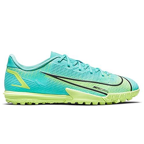 Nike JR Vapor 14 Academy TF, Scarpe da Calcio, Dynamic Turquoise/Lime Glow, 38 EU
