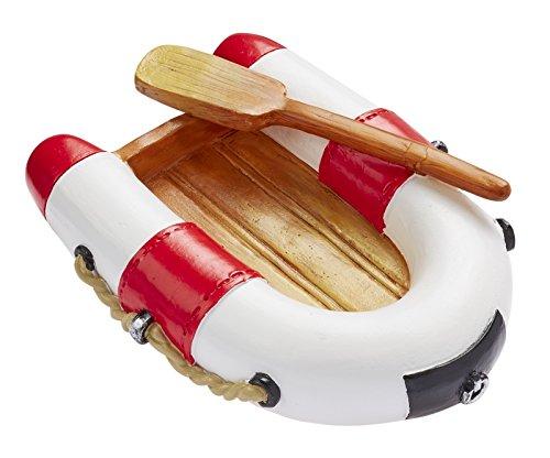 Hobbyfun Schlauchboot rot/weiß ca. 7 x 5 cm