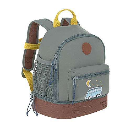 LÄSSIG Kinderrucksack mit Brustgurt Kindergartentasche Kindergartenrucksack / Mini Backpack, Adventure Bus, 27 cm, 5 L
