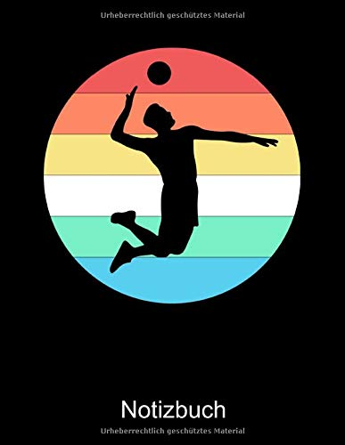 VOLLEYBALL Notizbuch: Notizbuch A4 kariert 100 Seiten, Notizheft / Tagebuch / Reise Journal, perfektes Geschenk für Volleyballspieler