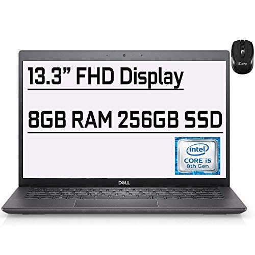 "Flagship Dell Latitude 3301 Business Laptop 13.3"" FHD Display 8th Gen Intel Quad-Core i5-8265U (Beat i7-7500U) 8GB RAM 256GB SSD Fingerprint WiFi MaxxAudio Win10 + iCarp Wireless Mouse"