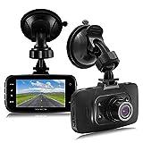 Senwow Cámara de Coche Dash Cam (Con tarjeta SD de 32GB) Full HD 1080P Gran Angulo 120° Pantalla 2,7' LCD Vídeo Grabadora DVR G-Sensor Grabación en bucle Detección de Movimiento Visión Nocturna WDR
