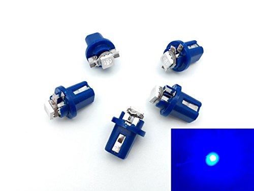 TMT LEDS(TM) Lot de 5 ampoules LED B8.5D 1 LED SMD 5050 Pour tableau de bord Bleu