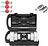 HZC Dumbbell Weights Set Dumb Bells with Connector Composition Barbell,Box,Rubber Sleeve for Gym Home Bodybuilding Training (Color : 7.5KG/16lb x2)