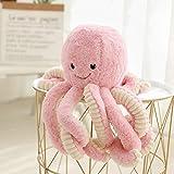 Asdomo Pieuvre en peluche - Jolie créature de la mer en peluche - 40 cm, rose, Pink 40cm/15.75inch(height)