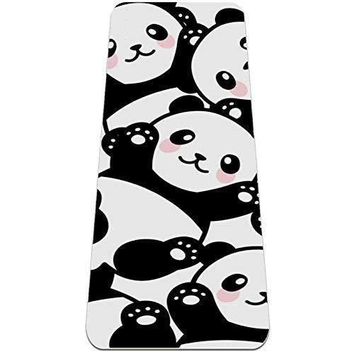 Esterilla de yoga antideslizante de 1/4 de pulgada de grosor con correa de transporte para todo tipo de ejercicio, yoga y pilates (72 'x 24' x 6 mm de grosor) Clever Panda