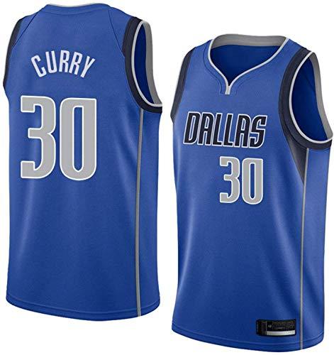ZMIN Uniformes del Baloncesto de la NBA de los Hombres, Mavericks # 30 Mangas del Verano de Curry de Secado rápido Informal Camisetas Camisetas de Baloncesto Deportes Chalecos,B,M 170~175cm