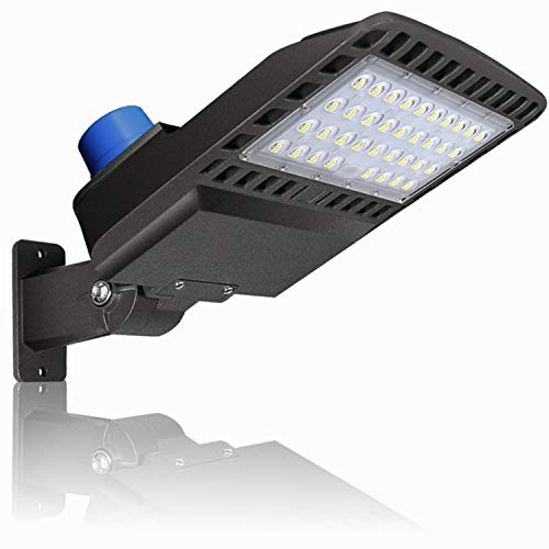 150W LED Parking Lot Lighting - Adjuatable with Photocell Slip Fitter LED Parking Lot Lights 19500lm 5000K Commercial LED Area Ligh IP65 Led Shoebox Light