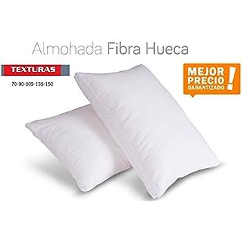 TEXTURAS HOME - Unic Almohada Fibra Hueca ANTIALÉRGICA Blanco Poliéster 100% Economy (Pack-2 (70_x_40 cm)): Amazon.es: Hogar