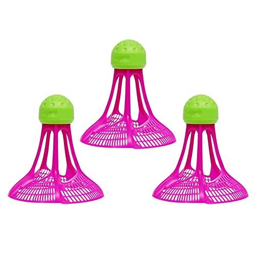Jdeijfev Badminton Antivento All'Aperto Badminton Antivento Palla di Plastica nel Nylon Volano Stabile Resistenza Sport Training Balls