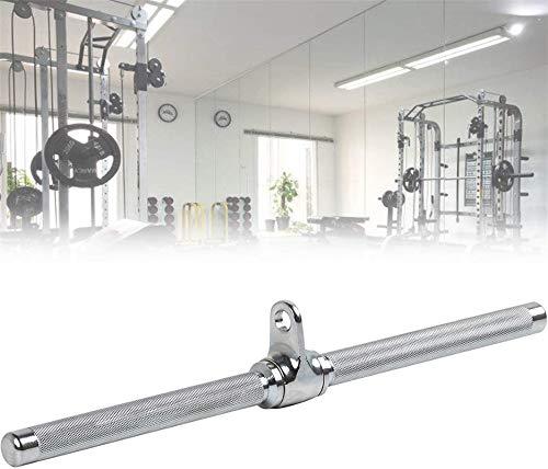 Eortzzpc Equipo de polea con Cable, Barra de Barra Recta giratoria de 50 cm, Barra extraíble Lat Down con Giro a 360 ° para Sistema Multi Gimnasio/Cable ,para Tríceps, Flexión De Bíceps